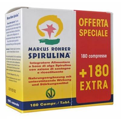 Alga Spirulina Marcus Rohrer 180+180 compresse con flacone in vetro