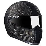 Bandit XXR Streetfighter per casco moto, colore: nero carbonio