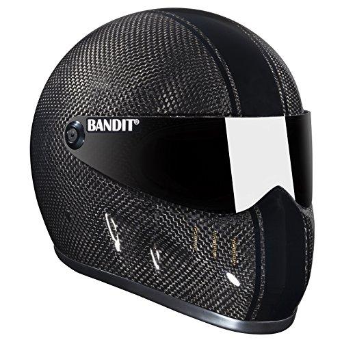 Bandit XXR Carbon Helm für Streetfighter,Top Speed sicher,sehr leicht , Sports-Farbe:carbon, Größe:XL(61-62cm)