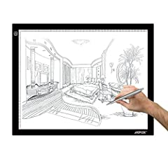 Idea Regalo - AGPTEK 14.6X18.5Inch LED Artigianato Tracing Luminosa a LED A3 Dimensione Scatola Chiara Ultrasottile Cavo di Alimentazione USB Regolabile Luminosit¨¤ Tatuaggio Pad Animazione