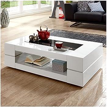 moebella couchtisch wei hochglanz mit glasplatte sera. Black Bedroom Furniture Sets. Home Design Ideas