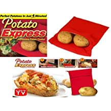 JACKET POTATO EXPRESS MICROWAVE COOKER BAG 4 MINUTES FAST REUSABLE WASHABLE COOK by Express trading