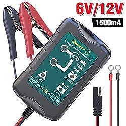 Autobatterie Ladegerät/ Erhaltungsladegerät 6V/12V, Universell Vollautomatisches Kraftpaket Autobatterie Batterieladegerät Batterie Ladegerät für Auto Motorrad KFZ PKW-MEHRWEG