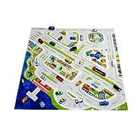 Little Helper 3D Childrens Play Rug in Mini City Design, Multicoloured (200 x 200cm)