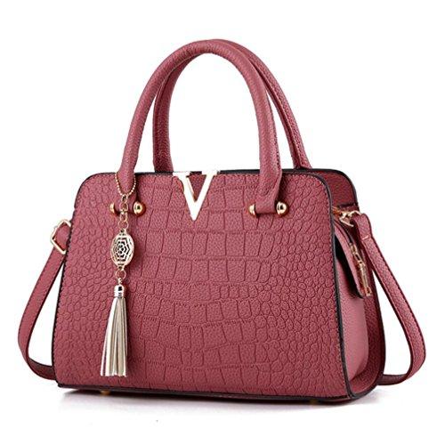 YOUBan Damen Handtasche Umhängetaschen Lederhandtasche Frau Quaste Tasche Alligator Muster Rucksäcke Schultertasche Mode Handytasche