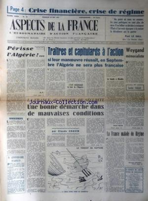 ASPECTS DE LA FRANCE [No 45] du 24/05/1957