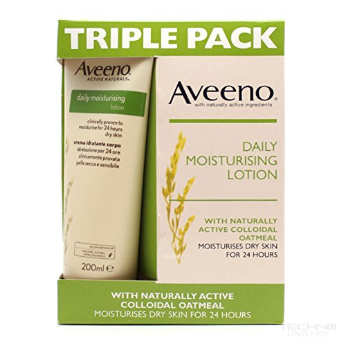 Fragrance Free Body Care Lotion (TRIPLE PACK Aveeno Daily Moisturising Lotion 3x8oz 600ml)