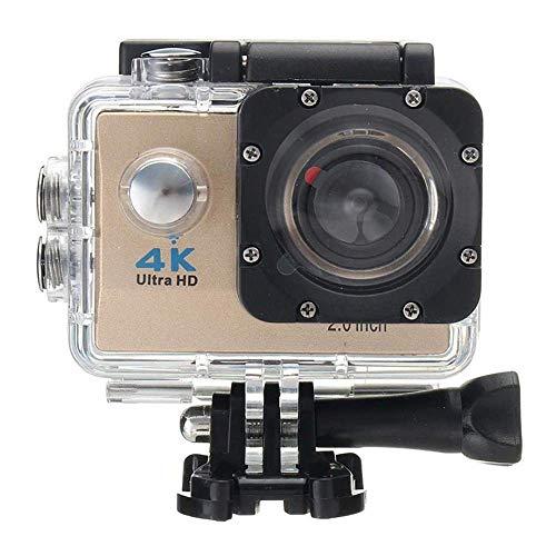 1080P Sport Action Kamera Ultra HD WiFi 4 Karat 2 Zoll LCD Display DVR Video Camcorder, 30 Mt DV Wasserdichte Tauchen Camcorder, 170 Grad Weitwinkel für Tauchen Radfahren Wandern Adventurer,Beige