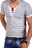 MT Styles 2in1 T-Shirt Deep V-Neck BS-501