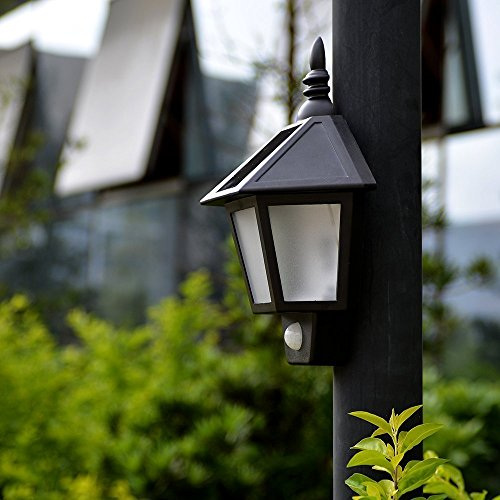 Farol solar para exteriores con sensor marca Progreen