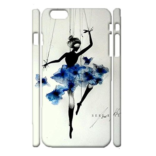 iPhone 6 Plus/6s Plus 5.5 Inch Back Case Cover,Vintage Perfect Ballerina Drawing Mark Design Shell 3D Hard Plastic Cover for iPhone 6 Plus/6s Plus 5.5 Inch Phone Case