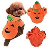 AIYUE® Halloween Hundemantel Hundekostüm Haustiere Kürbis Verkleidung Hundejacke Hundepullover Plüsch Kürbis Cosplay Hund Bekleidung