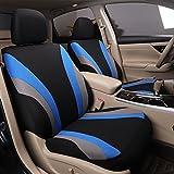Juego de funda de asiento para coche de 5 asientos con parte delantera y trasera con airbag disponible