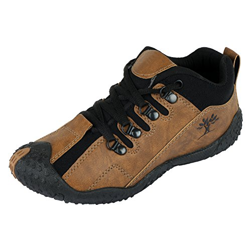 Maddy Top Quality Brown Black Sports Shoes For Men's In Various Sizes  available at amazon for Rs.198