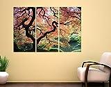 Apalis Leinwand Kunstdruck Leinwandbild Japanischer Garten Triptychon I, Leinwandbild, Leinwand Kunst, Kunstdruck, Leinwand, Kunstdruck auf Leinwand, Wand-Kunst