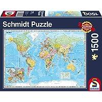 Schmidt Puzzle Il Mondo 1500 Pezzi, 58289