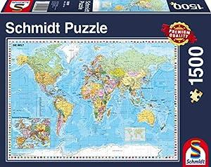 Schmidt Spiele Puzzle 58289-El Mundo Puzzle, 1500Piezas