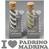 (ref. ITES-PrMrBlanc) Lote : 1 Padrino y 1 Madrina - Regalo Bautizos para, Navidad, cumpleaños ...