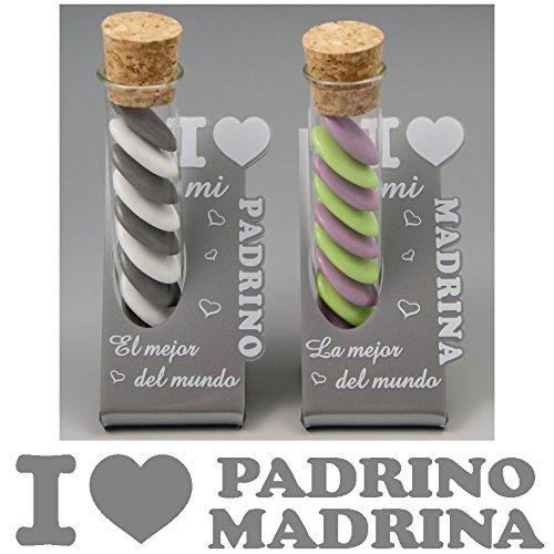 (ref. ITES-PrMrBlanc) Lote : 1 Padrino y 1 Madrina - Regalo Bautizos p