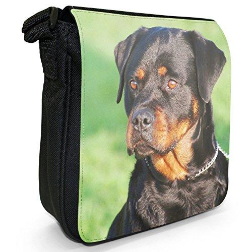 Rottweiler cane piccolo nero Tela Borsa a tracolla, taglia S cane Rottweiler