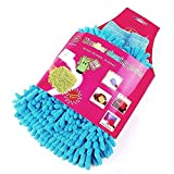 #10: PAN PACIFIC™ Microfibre Wash and Dust Chenille Mitt Cleaning Gloves (2 PCS Double Sided, Extra Large, Premium Quality Big Chenille Mitt glove, Assorted colors)