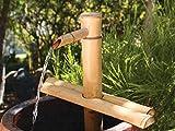 Bamboo Accents Fontana di Acqua per Patio, Outdoor Indoor /, Regolabile da 12 Pollici Half-Round Base Piana, Liscia bambù Split-Resistente Creare Il Proprio Fontana Zen