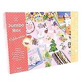 PepMelon Jumbo Box Kit Fai da Te - Celebrazione Edizione, 1000 Pezzi - Gomma crepla brillantinate, lavoretti creativi per Bambini per Pasqua, Natale, Compleanno - Giochi creativi, Montessori 3 Anni