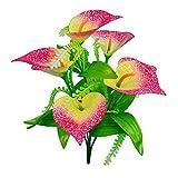Cysincos Künstliche Blumen, 1Greenery Sträucher Kunststoff Sträucher Blumentopf für drinnen Außen Aufhängen Hochzeit Friedhof Decor, rose