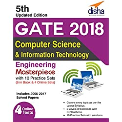 GATE 2018 Computer Science & Information Technology Masterpiece with 10 Practice Sets (6 in Book + 4 Online) 5th edition