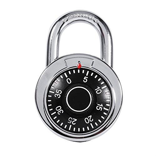 Kombinationsschloss Round Dial Dreh Vorhängeschloss Digital Code Passwortsperre für Gepäck Koffer Fahrrad Koffer Schubladenschrank