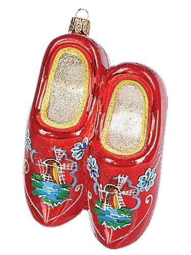 Holandés madera zapato polaco adorno Navidad cristal