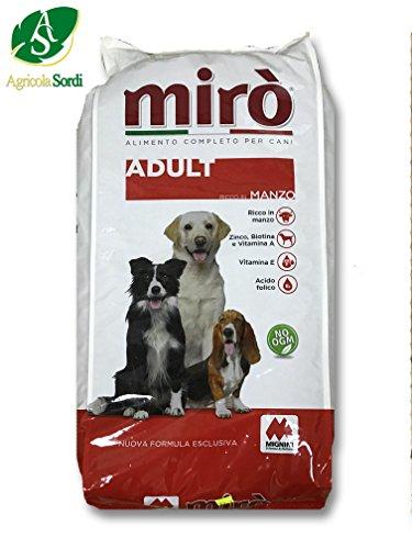 Miro adult ricco di manzo croccantini 20kg mangime completo alimento per cani adulti