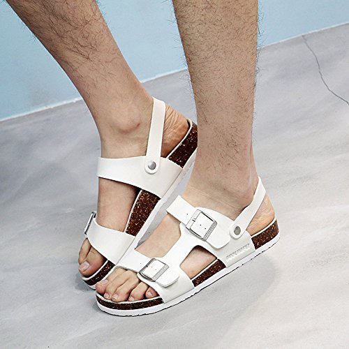 Sommer sandalen, Herren Sandalen Römische Sandalen Herren flache Sandalen Korkpantoffeln 3 drei Farben Farbe / Größe optional ( Farbe : 1003 , größe : EU43/UK9.5/CN45 ) 1001