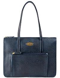 Hidesign leather Women's Handbag NYLE 2 (Blue)