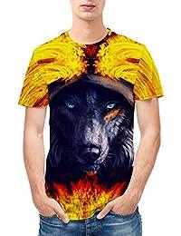 SEVENWELL Hombre Realistic 3D Print Camiseta De Manga Corta Summer Tops Tees Camiseta