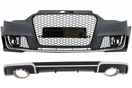 Kitt COCBAUA38VRH paraurti anteriore Miele pettine griglia nero brillante Design
