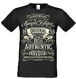 T-Shirt Geschenk zum 60. Geburtstag Special Edition 1958 Bruder Sohn Freund Papa Opa Farbe: schwarz Gr: L