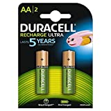 Duracell Ultra HR6 AA Akkus mit geringer Selbstentladung (2400mAh) 2er Pack