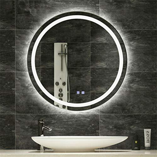 LUVODI Espejo Baño LED Redondo Espejo de Baño Antivaho con 3 Modos de Luces Ajustables Interruptor...