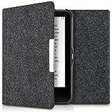 kwmobile Hülle für Tolino Vision 1 / 2 / 3 / 4 HD - Flipcover Case eReader Schutzhülle - Bookstyle Klapphülle in Dunkelgrau Filz Design