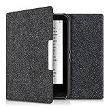 kwmobile Cover per Tolino Vision 1 / 2 / 3 / 4 HD - Custodia a libro per eReader - Copertina protettiva libro flip case Protezione per e-book reader Design Feltro grigio scuro