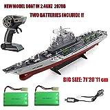 Nuevo Barco radio control Navío buque de guerra Portaaviones HT-2878B US Challenger escala 1:275 en 2.4Ghz sin interferencias / Lancha radiocontrol / barco teledirigido / Incluye 2 x baterias