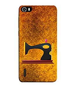 PrintVisa Designer Back Case Cover for Huawei Honor 6 (Love Lovely Attitude Men Man Manly)