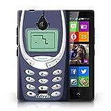 KOBALT® Hülle Case für Nokia X2 Dual Sim | Blaues Nokia 3310 Entwurf | Vintage Handys Kollektion