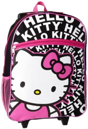 Rolling Rucksack – Hello Kitty – schwarz & weiß 40,6 cm (Luggage Hello Kitty Rolling)