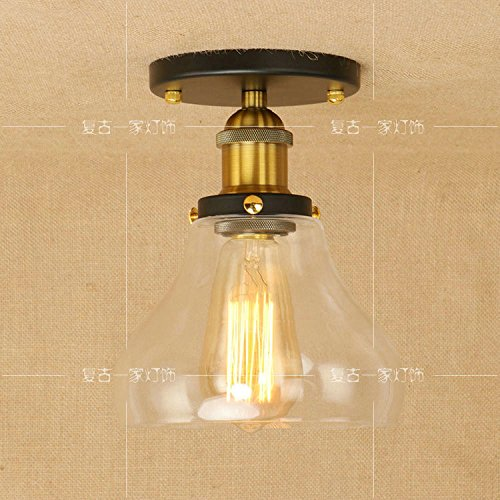 Nautische Outdoor-leuchten (WoOnew Glas Deckenleuchte Loft American Retro Industrial Wind kreativen Persönlichkeit Bar Wohnzimmer Restaurant Auge Lampen, 180*230 mm,)