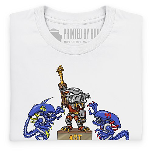 MCN AvP T-shirt, Uomo Bianco