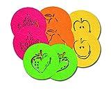 SUPMO Filzuntersetzer Glasuntersetzer Rund in Bunten Farben mit Obst Motiven (Farbe + Design Wählbar), 5mm Dick, Elegant und Auffallend - Untersetzer aus Filz für Getränke Gläser Schalen (8er, Mix)