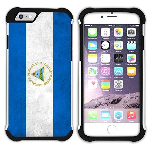 Graphic4You Vintage Uralt Flagge Von Bolivien Bolivianer Design Hart + Weiche Kratzfeste Hülle Case Schale Tasche Schutzhülle für Apple iPhone 6 / 6S Nicaraguaner