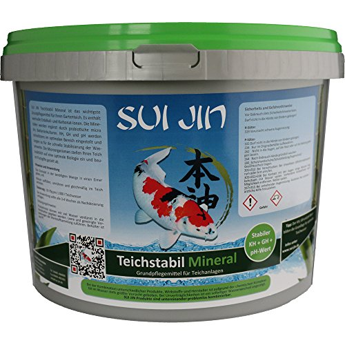 SUI JIN Teichprodukte TeichStabil Mineral (5kg) - für 150.000 Liter Teichwasser ph-Wert, KH, GH